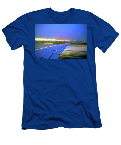 O'hare Night Takeoff Men's T-Shirt (Athletic Fit)