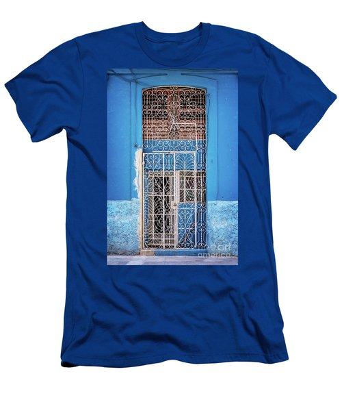 Old Door In Havana Men's T-Shirt (Athletic Fit)