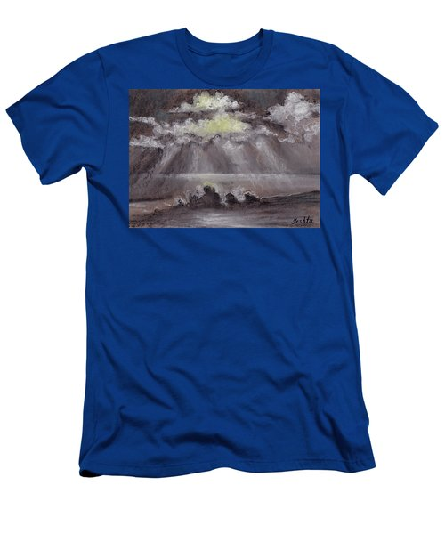 Outer Banks White Sunset Men's T-Shirt (Athletic Fit)