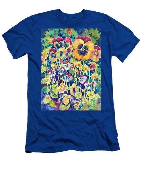 Pansies And Violas Men's T-Shirt (Athletic Fit)