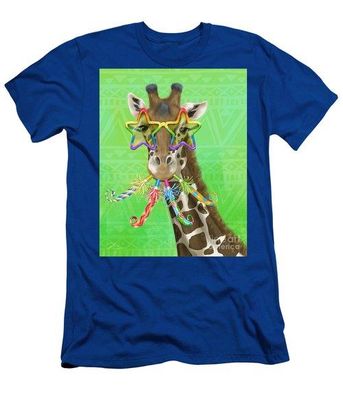 Party Safari Giraffe Men's T-Shirt (Athletic Fit)
