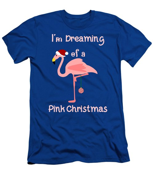 Pink Christmas T Men's T-Shirt (Athletic Fit)