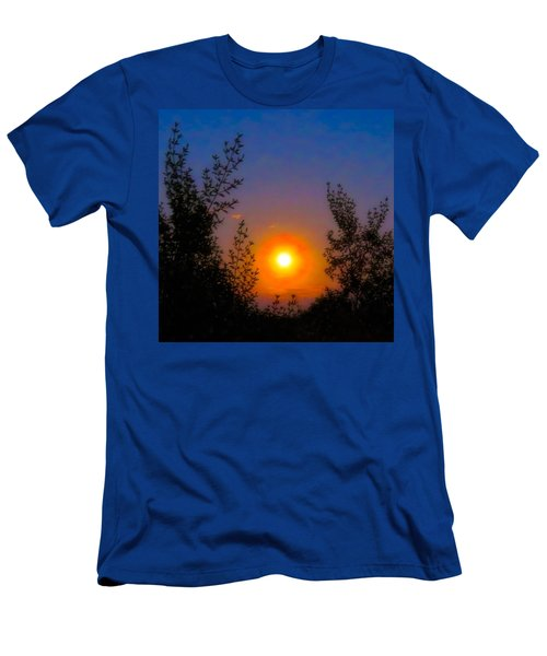 Men's T-Shirt (Athletic Fit) featuring the photograph Pisces Full Moon Rise by Judy Kennedy