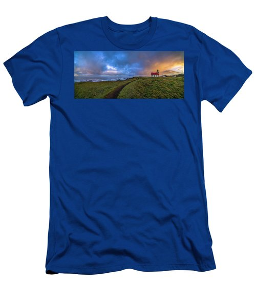 Point Cabrillo Light Station Panorama Men's T-Shirt (Athletic Fit)