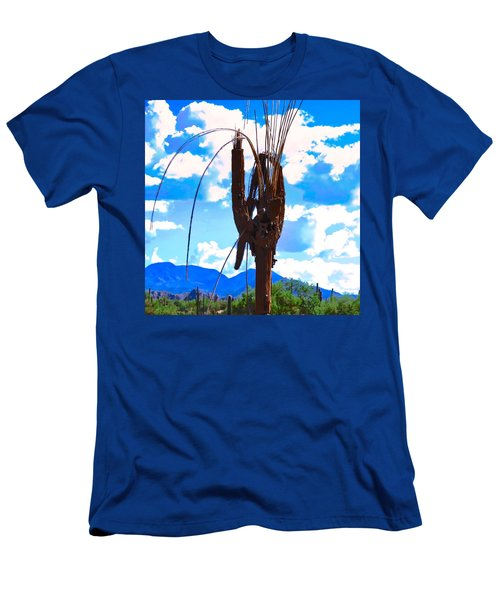 Men's T-Shirt (Athletic Fit) featuring the photograph Poor Pretty Saguaro by Judy Kennedy