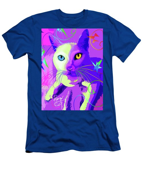 pOp Cat Cotton Men's T-Shirt (Athletic Fit)