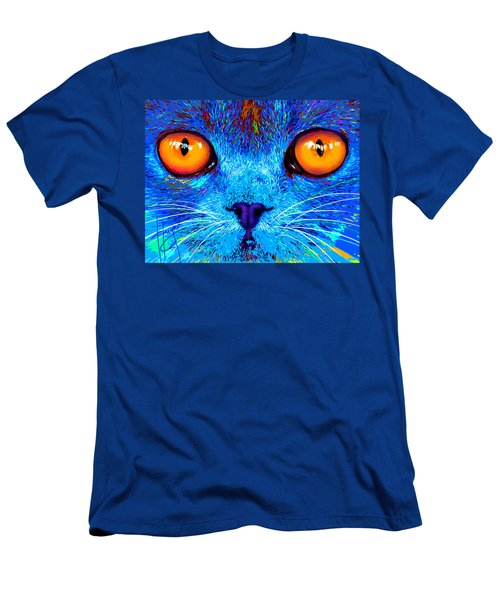 pOpCat Boe - Big Orange Eyes Men's T-Shirt (Athletic Fit)