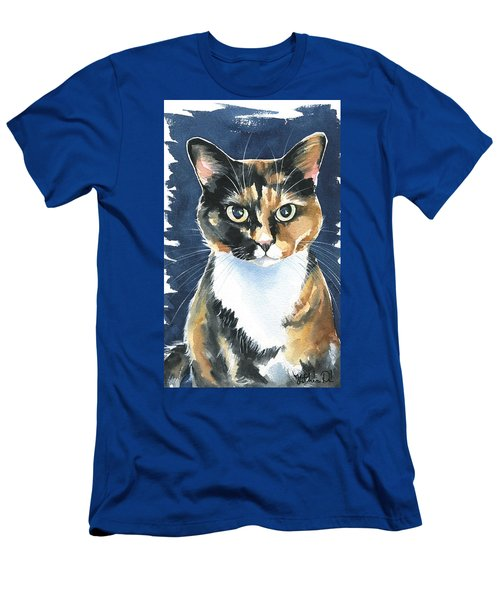 Poppy Calico Cat Painting Men's T-Shirt (Athletic Fit)