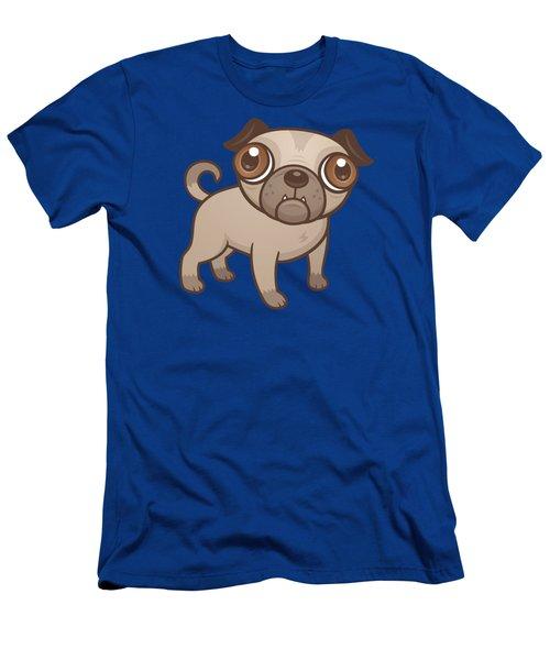 Pug Puppy Cartoon Men's T-Shirt (Athletic Fit)