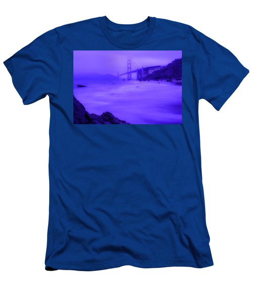 Purple Golden Gate Fog Men's T-Shirt (Athletic Fit)