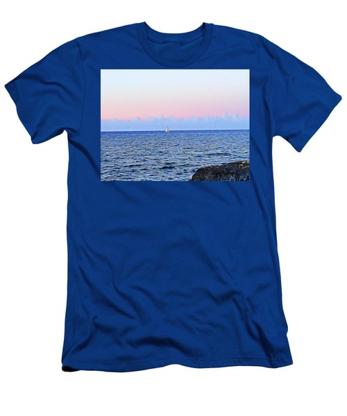 Men's T-Shirt (Athletic Fit) featuring the digital art Sail Boat by Lucia Sirna