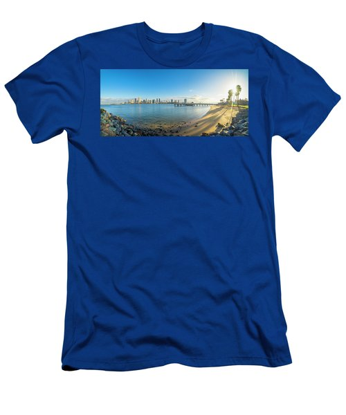 San Diego Bay - Panorama Men's T-Shirt (Athletic Fit)