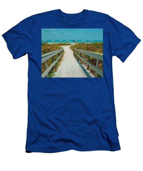 Sanibel Beach Umbrellas Men's T-Shirt (Athletic Fit)