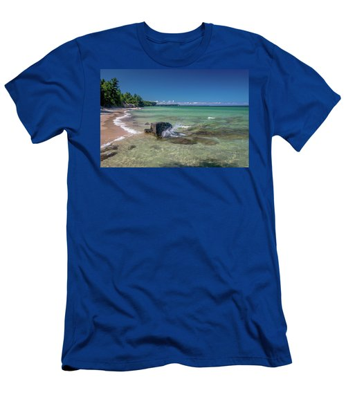 Secluded Beach Men's T-Shirt (Athletic Fit)