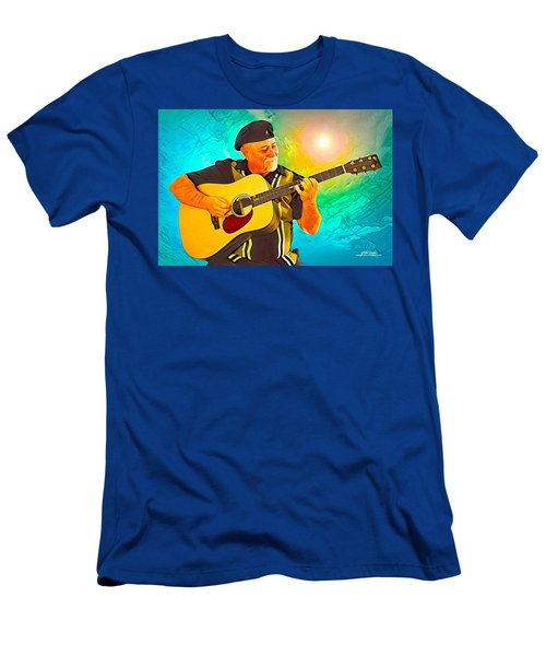 Men's T-Shirt (Athletic Fit) featuring the digital art Self Portrait by Mike Braun