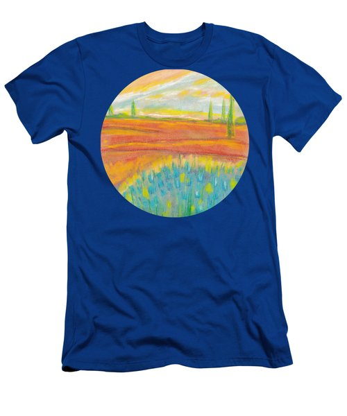 Sky And Fields - Abstract Colorful Background  Men's T-Shirt (Athletic Fit)