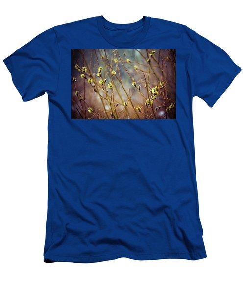 Snowfall On Budding Willows Men's T-Shirt (Athletic Fit)