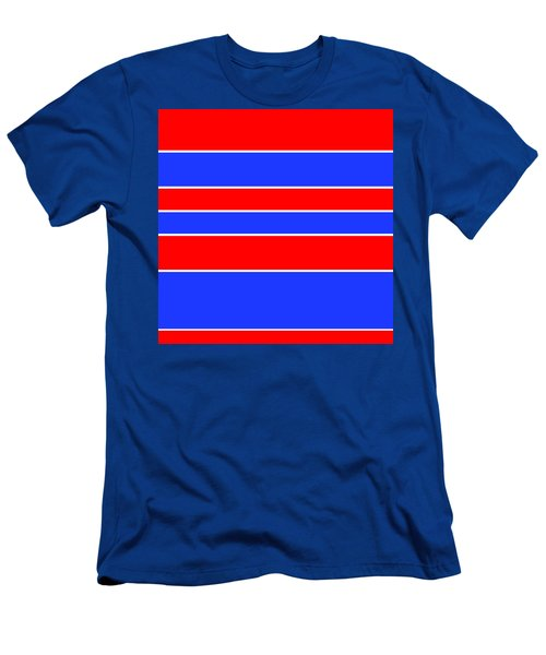 Stacked - Red, White And Blue Men's T-Shirt (Athletic Fit)