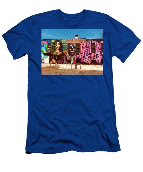 Stunning Brooklyn Wall  Men's T-Shirt (Athletic Fit)