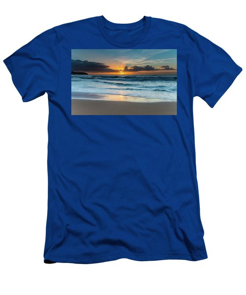 Sun Glow Seascape Men's T-Shirt (Athletic Fit)
