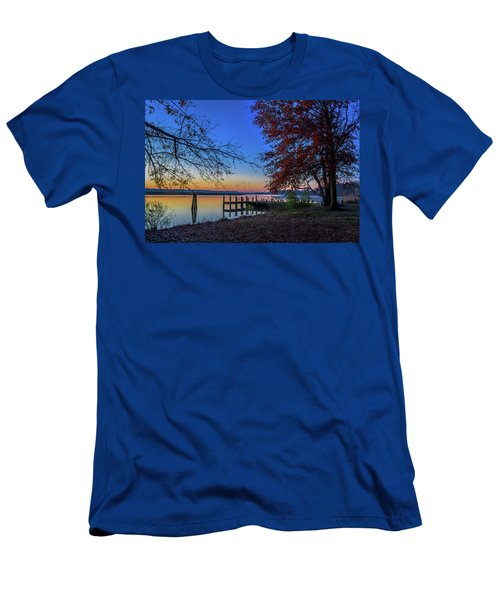 Men's T-Shirt (Athletic Fit) featuring the photograph Sunrise On The Patuxent by Cindy Lark Hartman
