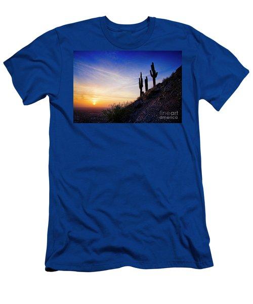 Sunset In The Desert Men's T-Shirt (Athletic Fit)