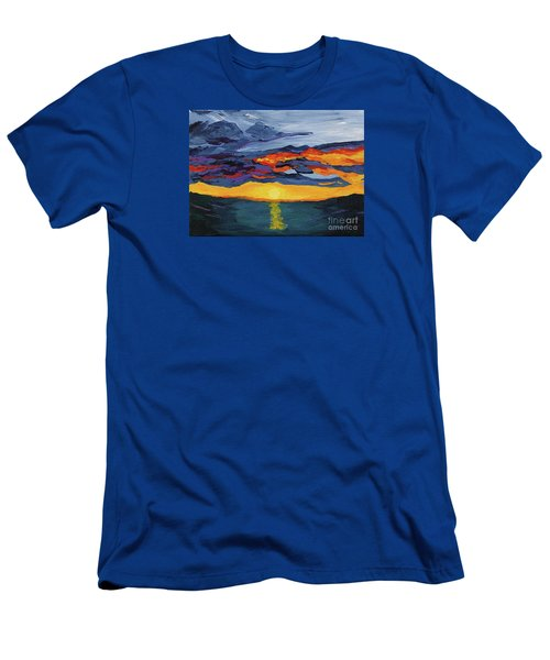 Sunset Streak Men's T-Shirt (Athletic Fit)