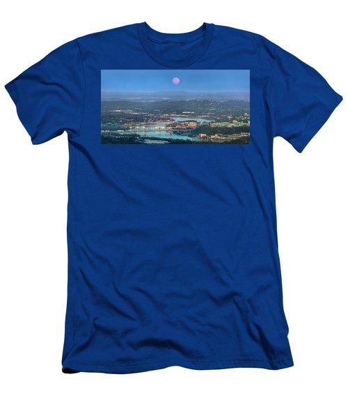 Super Moon Over Chattanooga Men's T-Shirt (Athletic Fit)