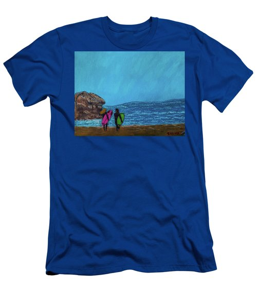 Surfer Girls Men's T-Shirt (Athletic Fit)