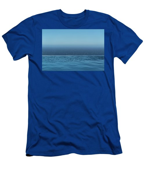 Three Layers Of Blue Men's T-Shirt (Athletic Fit)