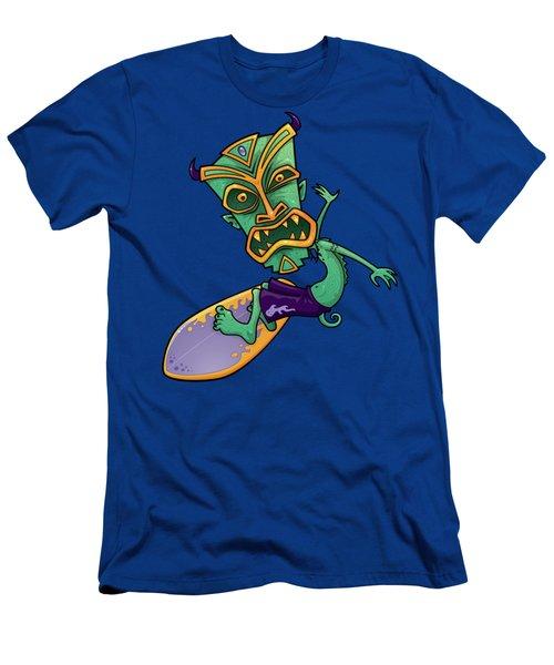 Tiki Surfer Men's T-Shirt (Athletic Fit)