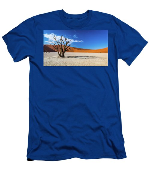 Tree And Shadow In Deadvlei, Namibia Men's T-Shirt (Athletic Fit)
