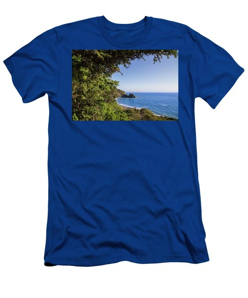 Trees And Ocean Men's T-Shirt (Athletic Fit)