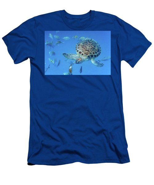 Turning Turtle Men's T-Shirt (Athletic Fit)