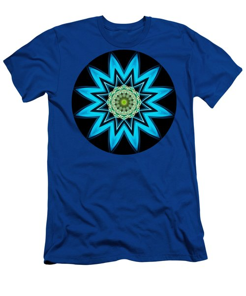 Turquoise Star Men's T-Shirt (Athletic Fit)