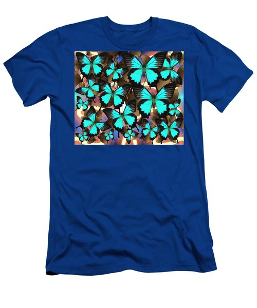 Ulysses Mutli Blue And Brown2 Men's T-Shirt (Athletic Fit)
