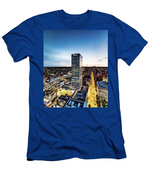 Men's T-Shirt (Athletic Fit) featuring the photograph Us Bank Tower by Randy Scherkenbach