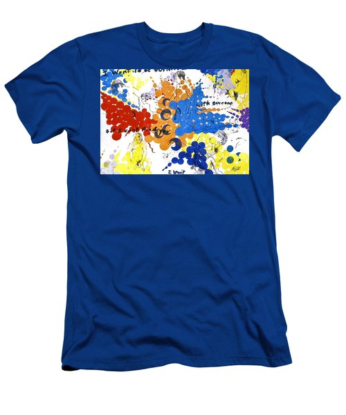 Men's T-Shirt (Athletic Fit) featuring the painting Vulnerability  by Rene Capone