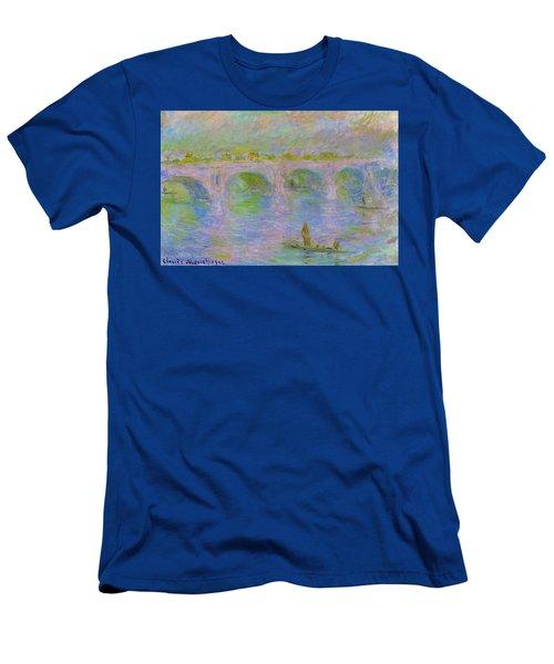 Waterloo Bridge In London - Digital Remastered Edition Men's T-Shirt (Athletic Fit)
