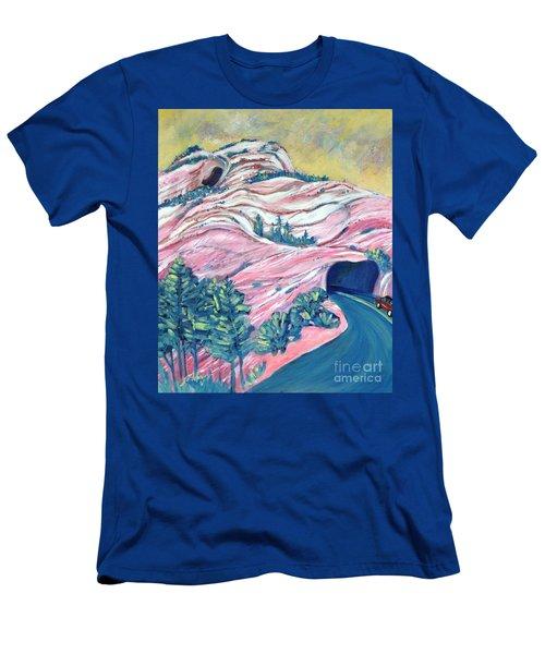 Wavy Rocks Men's T-Shirt (Athletic Fit)