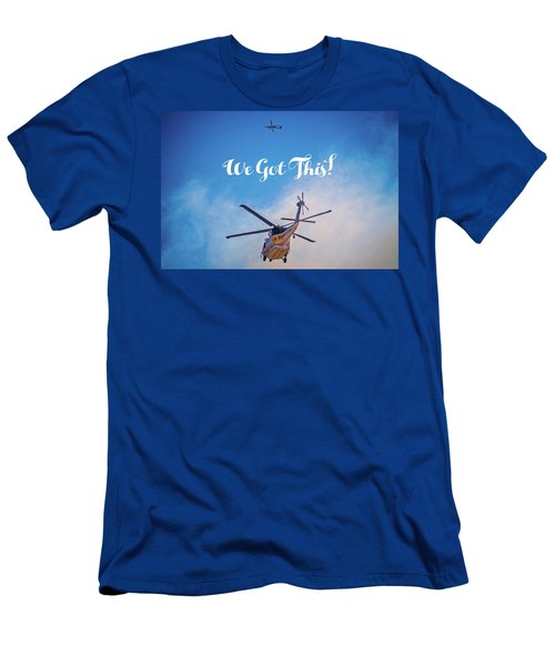 Men's T-Shirt (Athletic Fit) featuring the photograph We Got This by Lynn Bauer