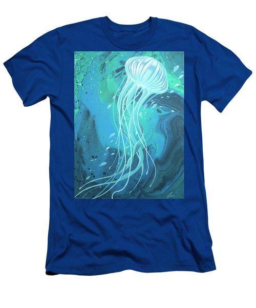 White Jellyfish Men's T-Shirt (Athletic Fit)