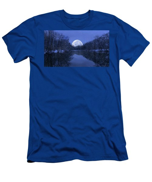 Winter Night On The Pond Men's T-Shirt (Athletic Fit)
