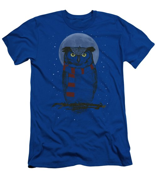 Winter Owl Men's T-Shirt (Athletic Fit)