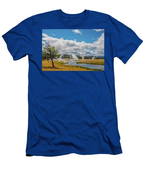 Men's T-Shirt (Athletic Fit) featuring the photograph Yellowstone Rising by Matthew Irvin