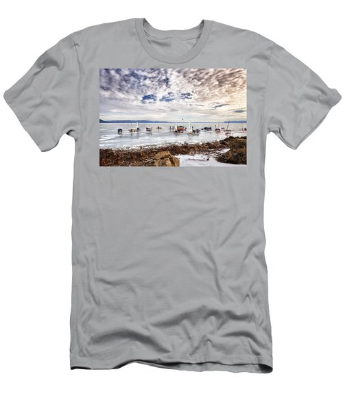 Ice Boats On Lake Pepin Men's T-Shirt (Athletic Fit)