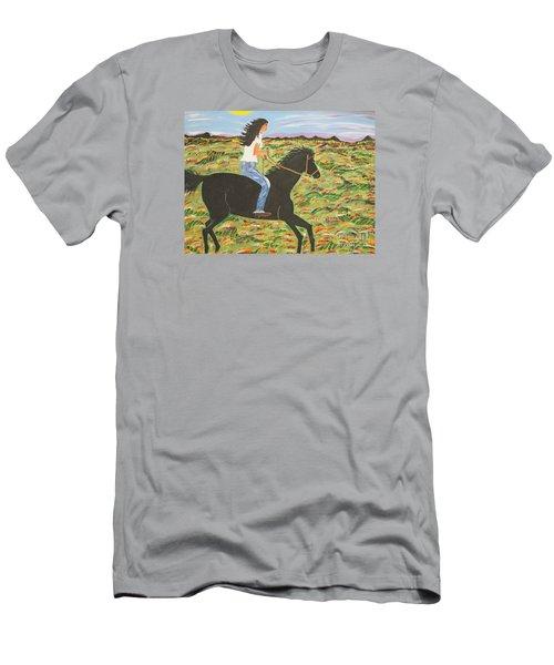 Morning Bareback Ride Men's T-Shirt (Athletic Fit)