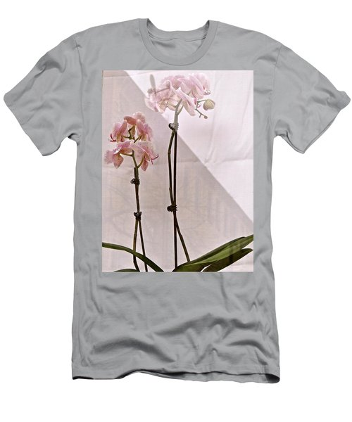 Men's T-Shirt (Slim Fit) featuring the photograph  Orchids In The Window by Ira Shander