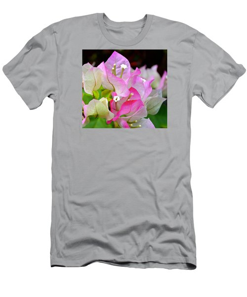 Pink  Bougainvillea ...with A Friend Men's T-Shirt (Slim Fit) by Lehua Pekelo-Stearns