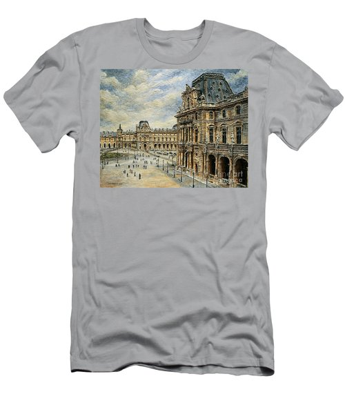 The Louvre Museum Men's T-Shirt (Slim Fit) by Joey Agbayani